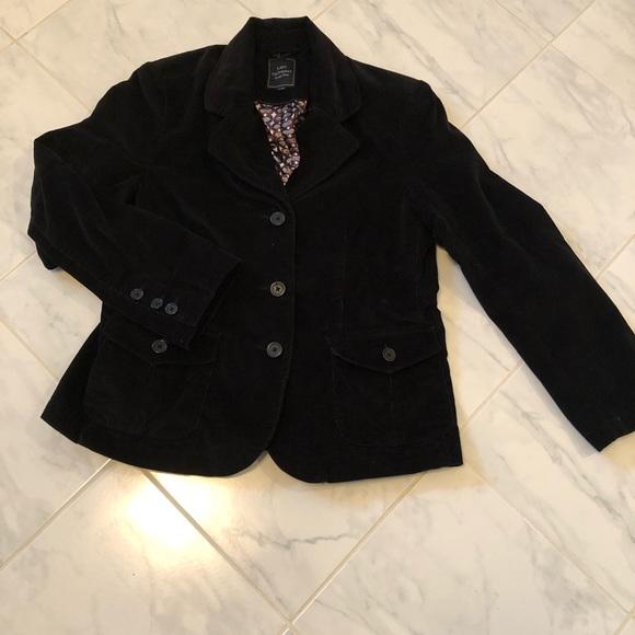 Lady Hathaway black velvety soft stretchy blazer